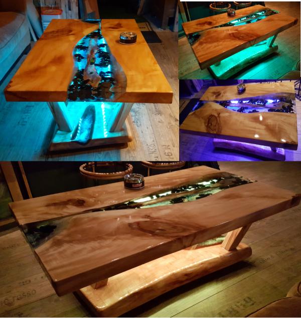 Epoxydharz Und Holz Schöne Kombination Beleuchteter