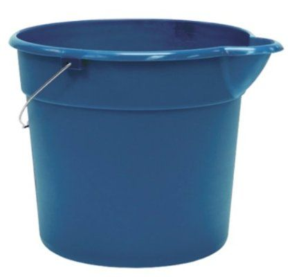 United Solutions Blue Plastic Utility Pail With Spout 12 Quart Plastic Pail Pail Mopping Laminate Floors