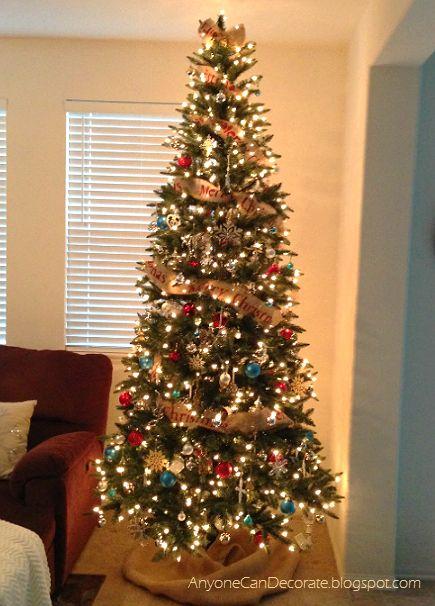 Diy Burlap Christmas Tree Garland Diy Christmas Tree Garland
