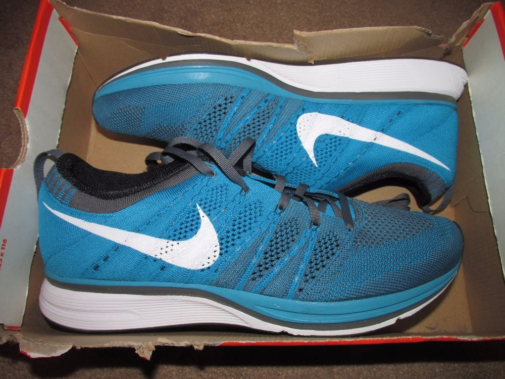 check out ae60c e3742 Nike Flyknit Trainer+ Mens Running Shoes 10.5 Neo Turquoise Dark Grey  532984 410  Nike  RunningCrossTraining