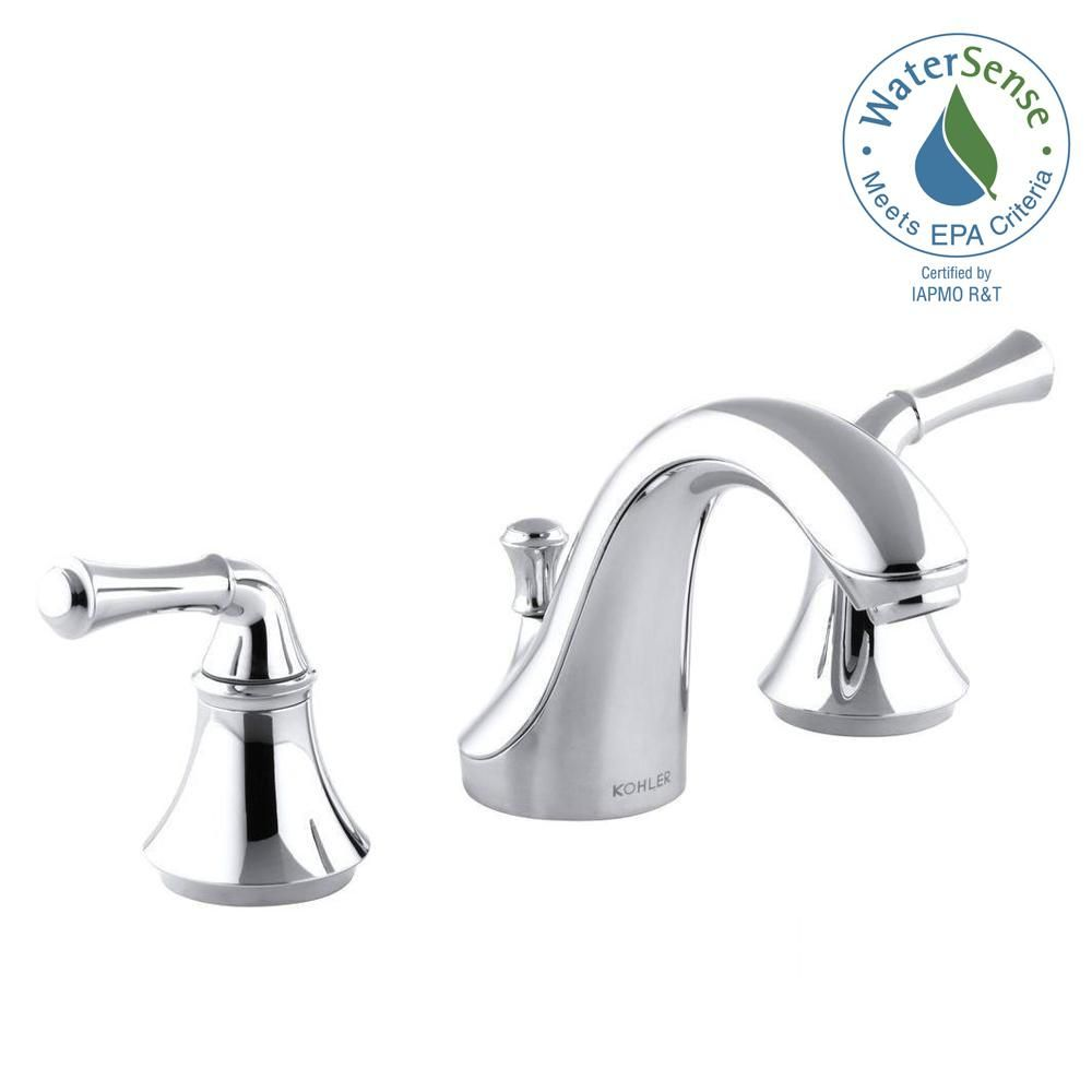 KOHLER Forte 8 in. Widespread 2-Handle Low-Arc Water-Saving Bathroom ...