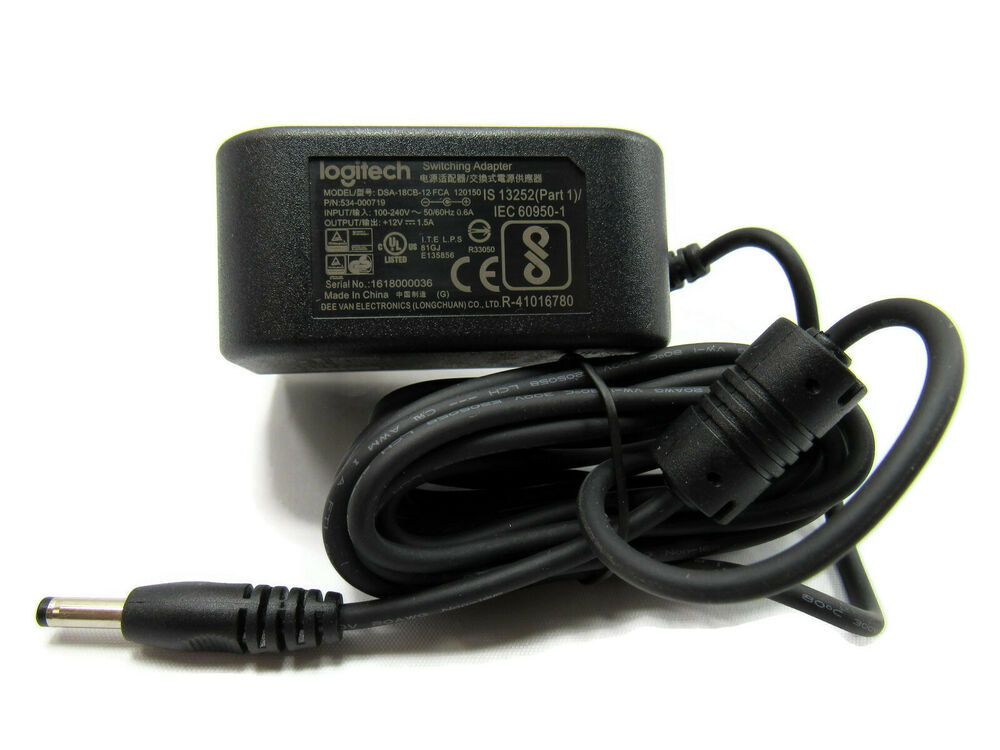 Logitech Switching Adapter Model Dsa 18cb 12fca 120150 P N 534 000719 New Logitech Logitech Adapter Ebay