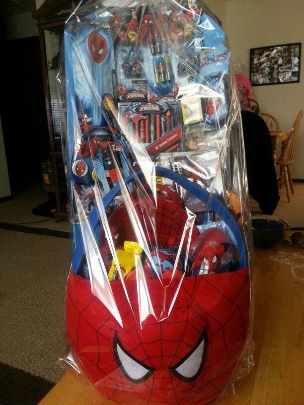 Spiderman Easter Basket Easter Crafts Pinterest
