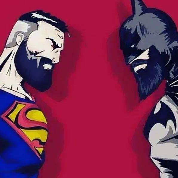 beards batman superman