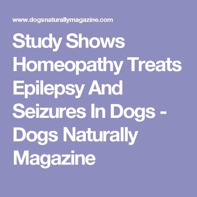 Study Shows Homeopathy Treats Epilepsy And Seizures In Dogs