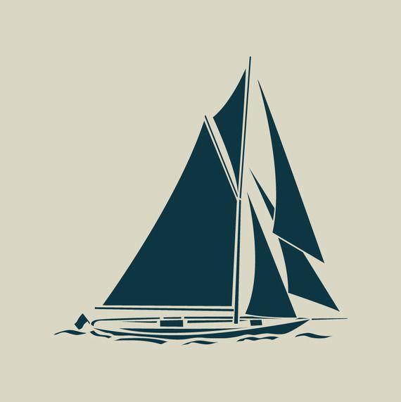 Voilier bateau pochoir en vinyle adh sif ref 203 id es pour la maison stencils boat et - Dessins de voiliers ...