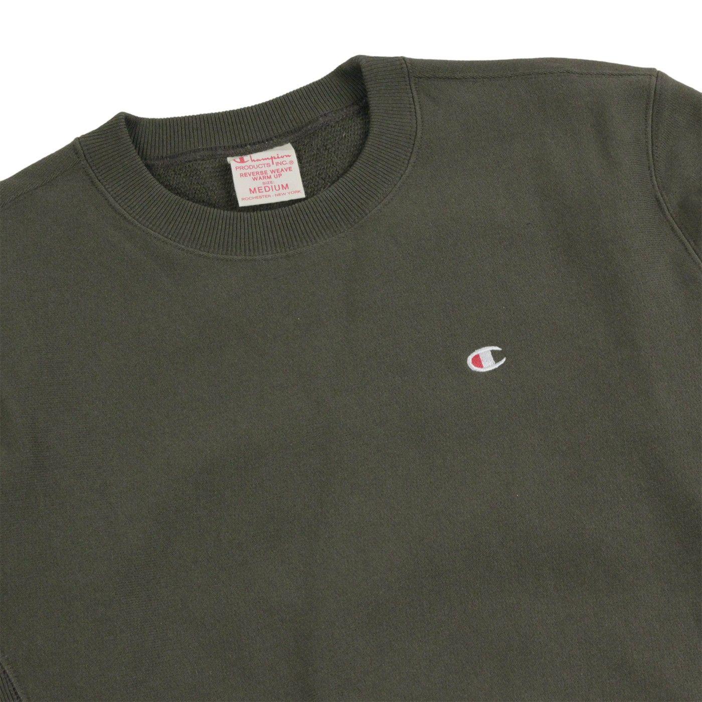 Champion Reverse Weave Crew Neck Sweatshirt Olive Crew Neck Sweatshirt Champion Reverse Weave Champion Sweatshirt [ 1400 x 1400 Pixel ]