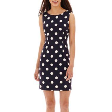 Alyx® Sleeveless Solid Sheath Dress - in pink - Petite