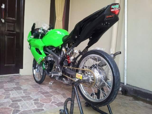 7 Gambar Modifikasi Motor Ninja Rr 150 Cc 2 Tak Warna Hijau Minimalis Kawasaki Ninja Mobil Mewah Hijau