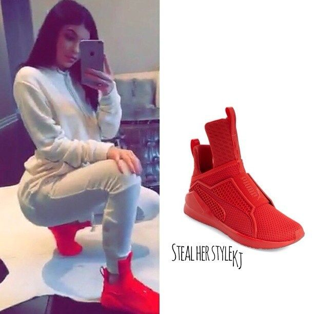 kylie jenner puma shoes vs rihanna