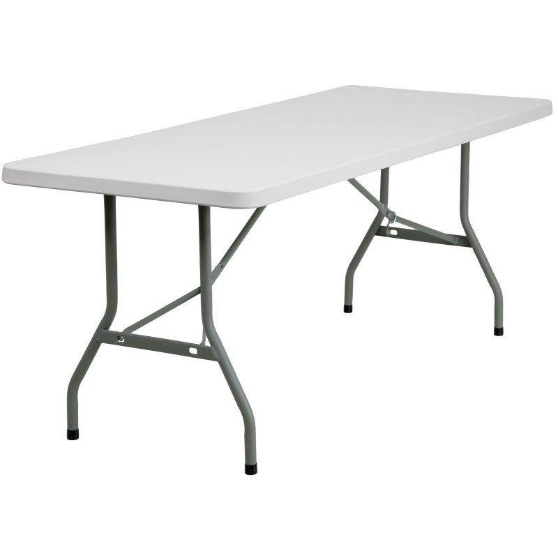 "72/"" Flash Furniture Round Bi-Fold Granite White Plastic Folding Table 60/"""
