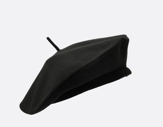 88424689 Vegan Friendly French Beret Hat with Faux Wool Fabric by askidas, $30.00