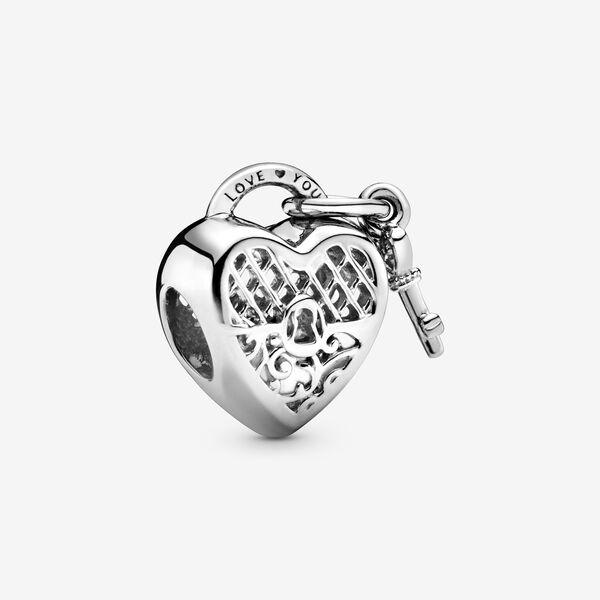 charms pandora cuore con chiave