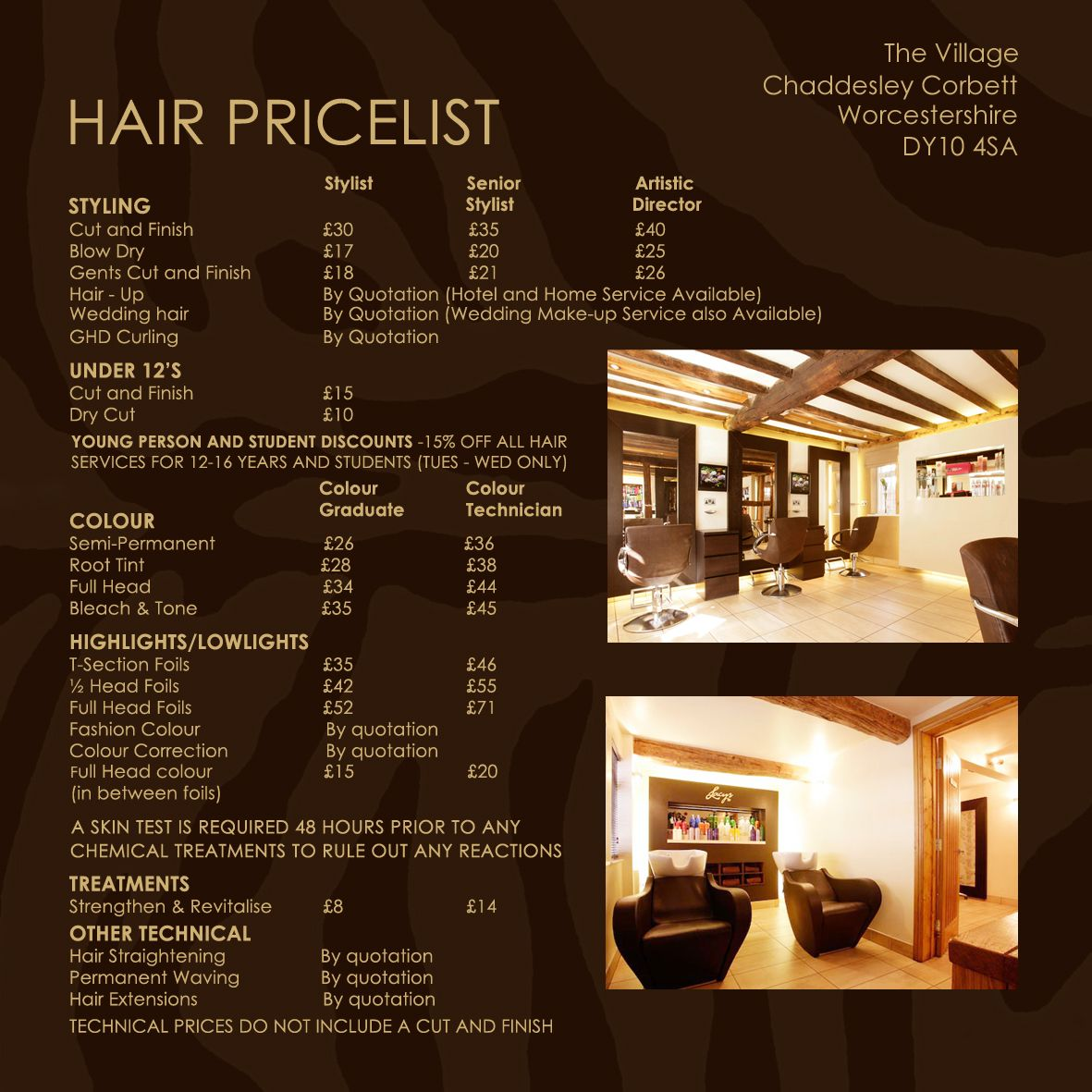 Pricelist hair salon redcliffe presented by vicki39s for F salon jaipur price list