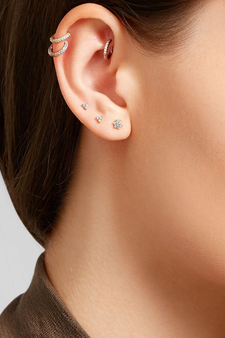 Maria Tash Flower 18-karat Gold Diamond Earring da8GgPx