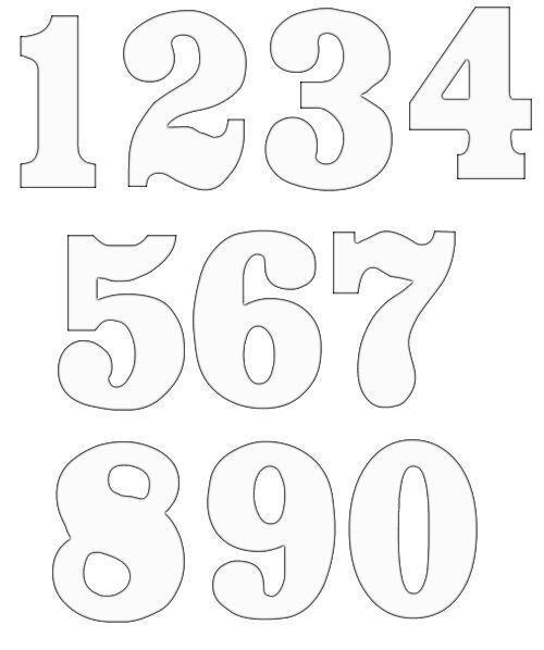 picture relating to Printable Number Templates known as figures clipart picture 6 Birthday Recommendations Lettering
