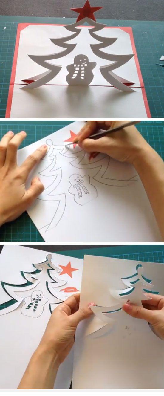 Snowman Pop Up Card Handmade Pop Up Christmas Cards For Kids To Make Christmas Cards Handmade Christmas Card Crafts Diy Christmas Cards
