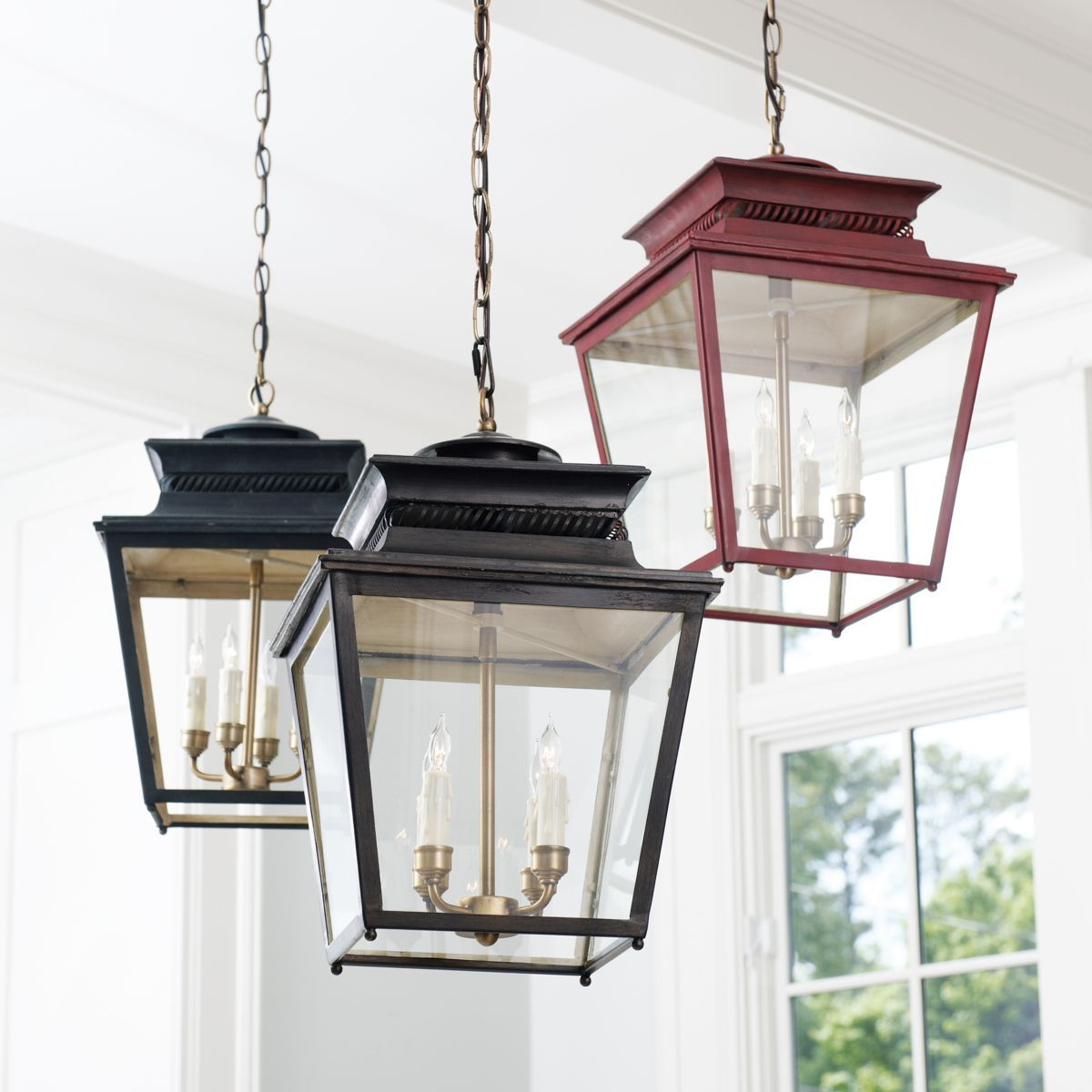 Piedmont 4 Light Lantern Lighting Mirrors Hanging