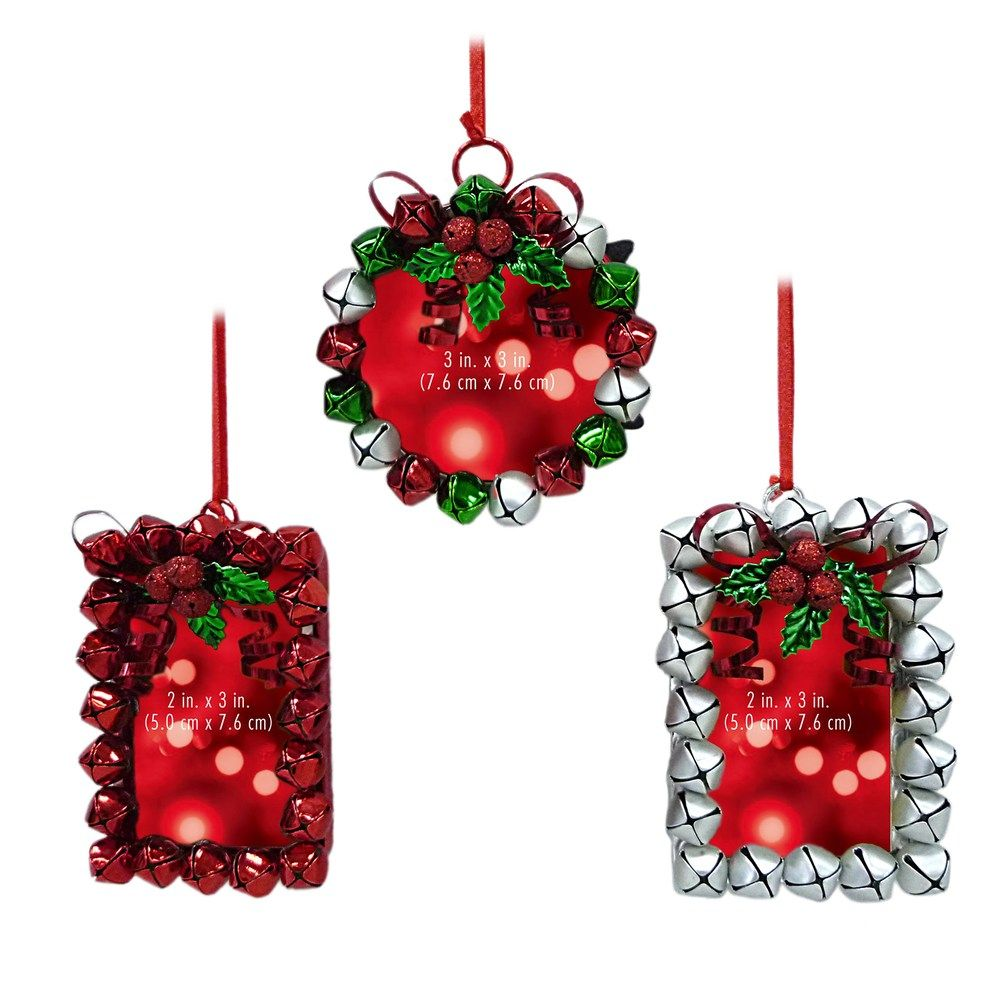 St. Nicholas Square® Jingle Bell Photo Holder Christmas Ornament 3 ...