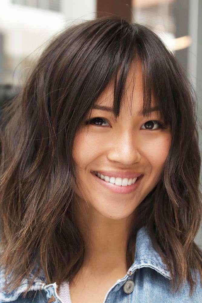 30 Shag Haircut Examples To Suit All Tastes Medium Short Hair Bangs With Medium Hair Medium Hair Styles