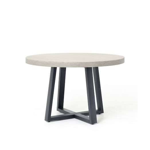 Slab Outdoor Round Dining Table In 2020 48 Round Dining Table