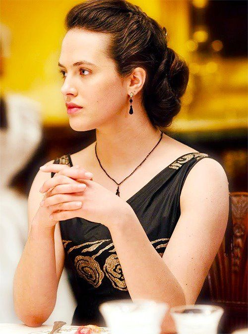 Lady Sybil Crawley: No one ever learned anything from a governess except for French, and how to curtsy.    #downtonabbey