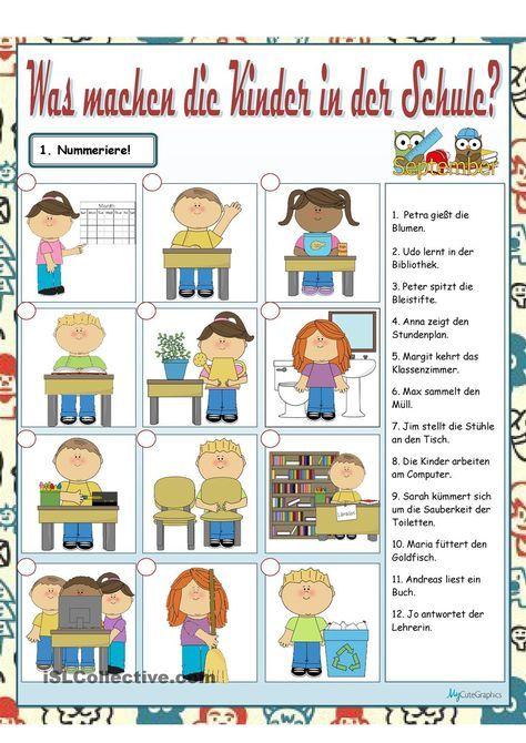 Was machen die Kinder? | DaZ | Pinterest | Kinder Arbeitsblätter ...