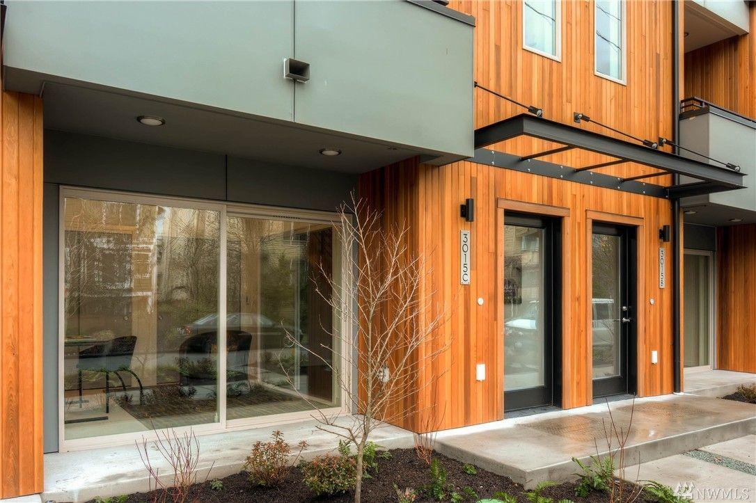 Modern Seattle Home On 60th Ave   Sliding Door, Wood Siding, Rainy Day,