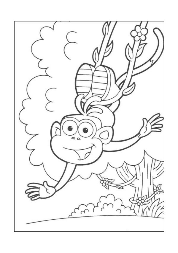 Dibujos Para Colorear Dora La Exploradora 18 Monkey Coloring Pages Dora Coloring Free Kids Coloring Pages