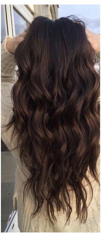 warm dark brown hair