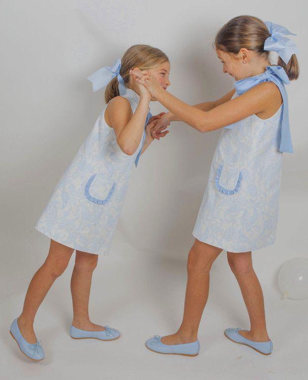Algodón Azul - Gansetes Moda Infanitl