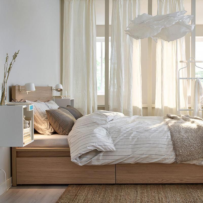 Photo of Live your bedroom storage dreams with a MALM bed with storag…