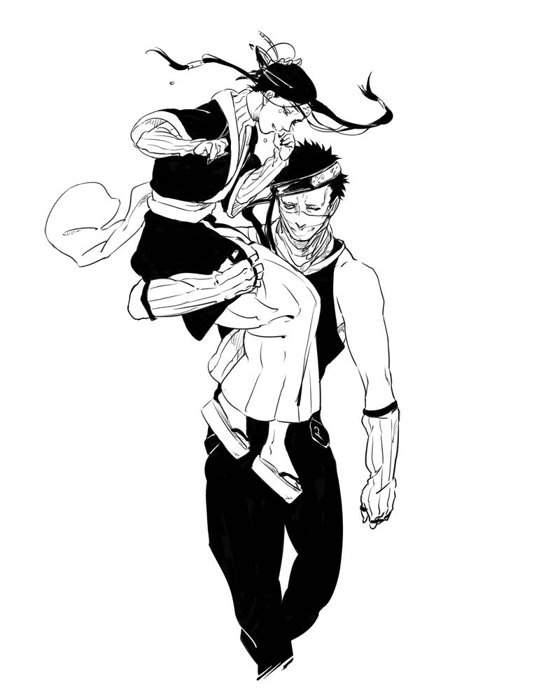 Haku and Zabuza Momochi