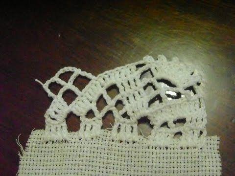 Puntilla de volteo para cortina en crochet terminaciones - Puntillas para cortinas ...
