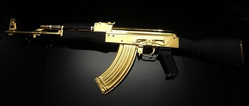 Gold Plated Ak 47 Girly Gun Lover Pinterest Poetry