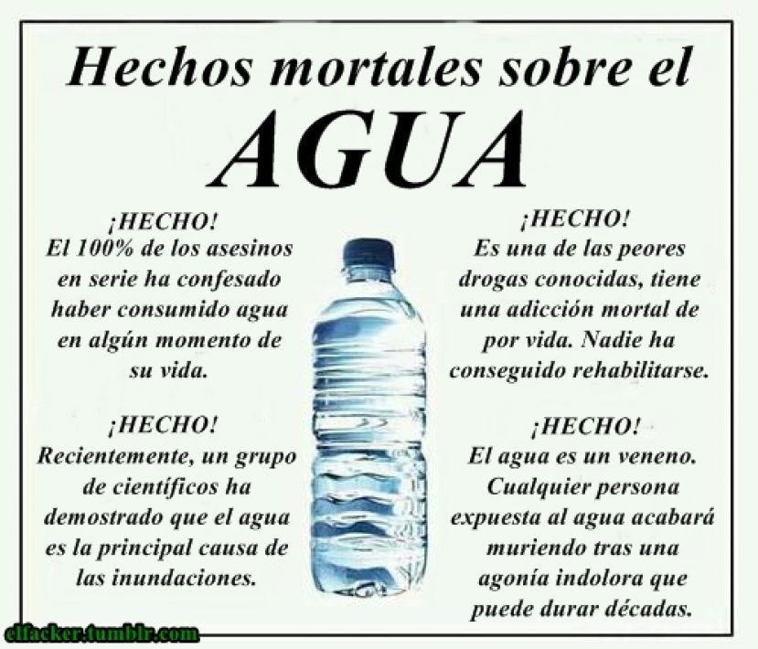 Hechos mortales sobre el agua. Más en http://www.lasfotosmasgraciosas.com/carteles.html