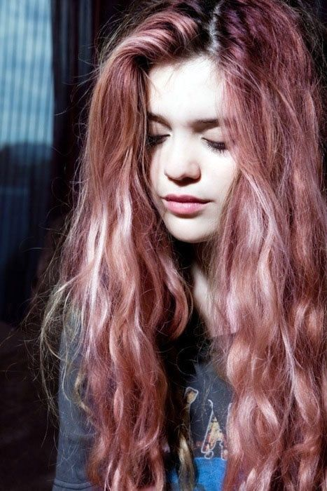 Love The Subtle Dark Blonde Pink Hair Styles Multi Colored Hair Dye My Hair