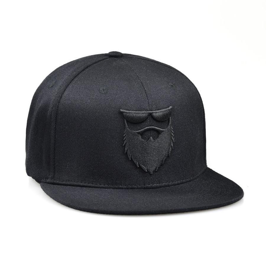79f8be8951852 No Shave Life Beard Co. OG Beard Logo Flex Fit Hat Medium Large   Black - 1