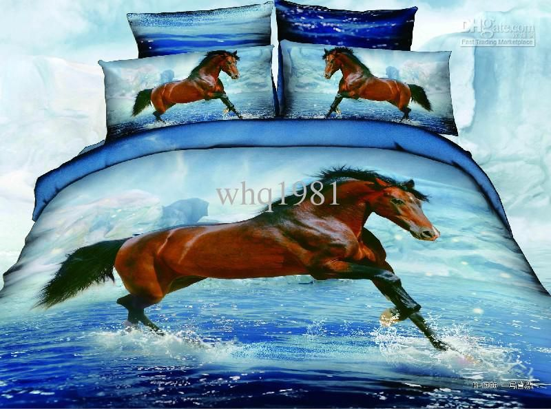 3d Wolves Printing Bedding Sets 100 Cotton Fabric Animal Wolf