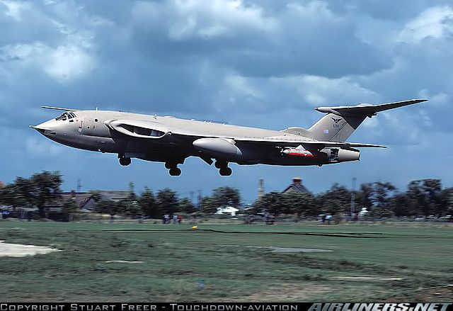 RAF: Handley Page HP-80 Victor K2 Belonging to 57 Squadron based at RAF Marham, caught making a very low approach for landing. Now preserved as a gate guard at it's former base.