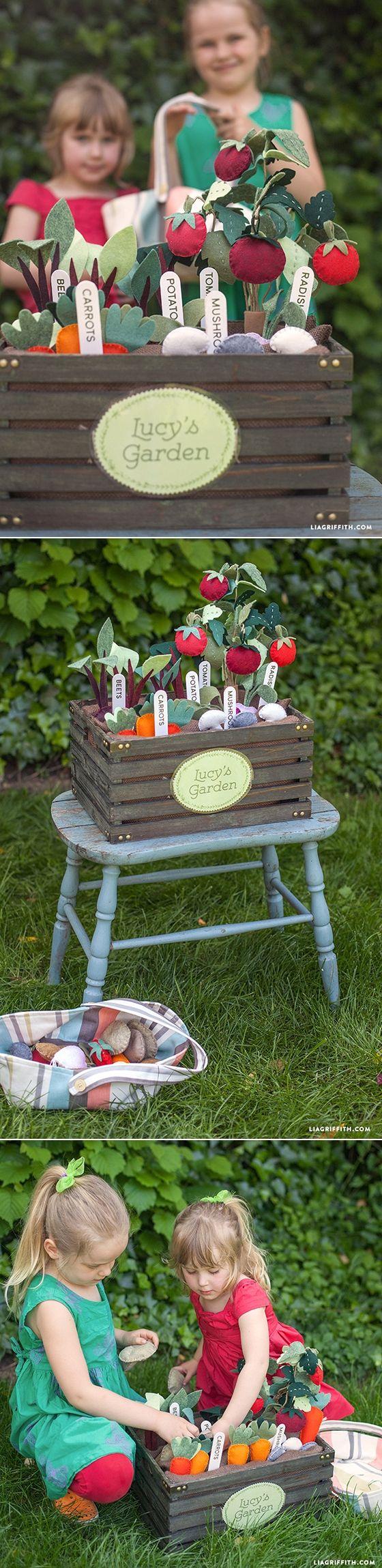 #DIY #feltproject #veggiegarden www.LiaGriffith.com