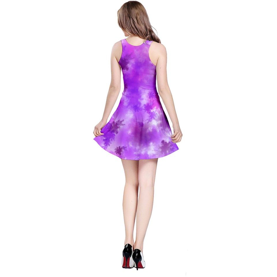 Purple+Splatter+Pattern+Reversible+Sleeveless+Dress Artist Tracey Lee Art Designs