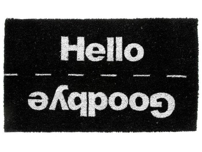 Hello and Goodbye Door Mat with Rubber Coating