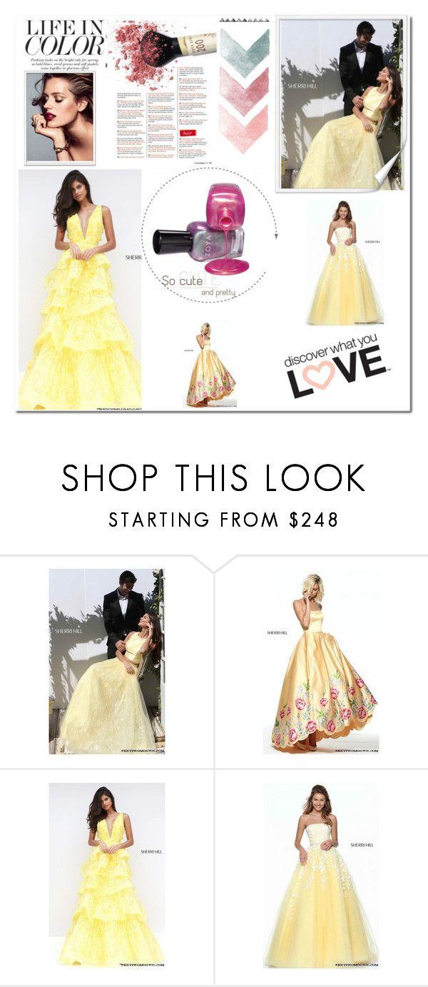Yellow sherri hill prom dress