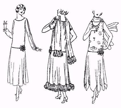Past Patterns: #5622: Ladies\' Evening Dress circa 1923 | sewing ...