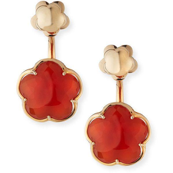 Pasquale Bruni Bon Ton Carnelian Flower Jacket Earrings in 18K Rose Gold 20Do7l7p