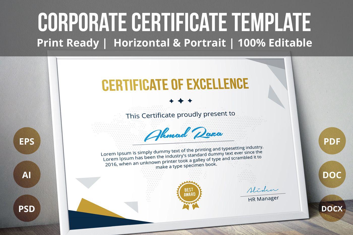 Behance Psd Certificate Template