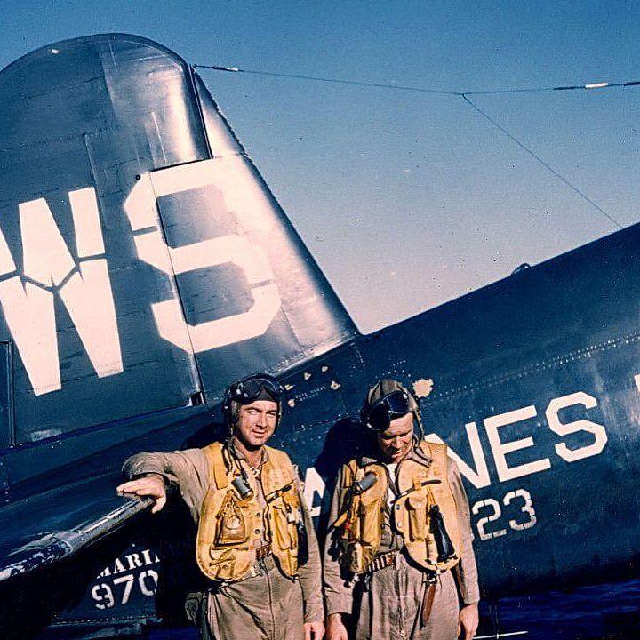 Marine corsair pilots, Korean War #USMC