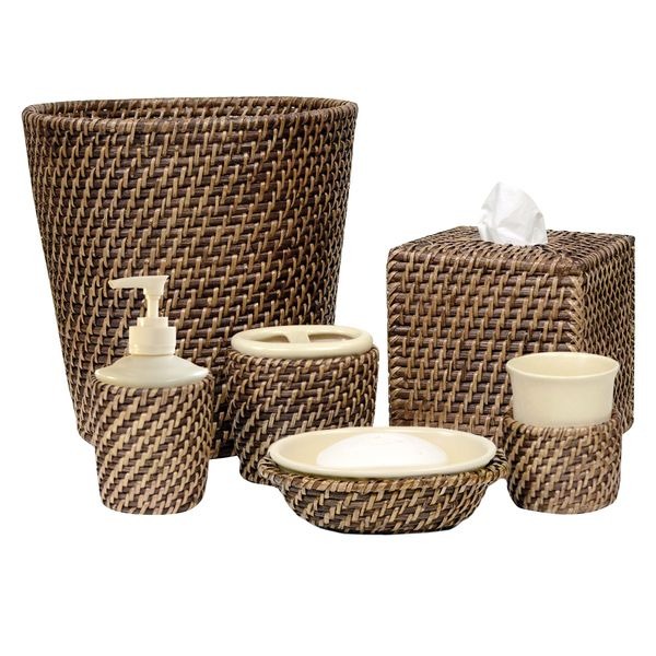 Upgrade Your Bathroom With These Stunning Hand Woven Rattan Bath Accessories They Offer A Core