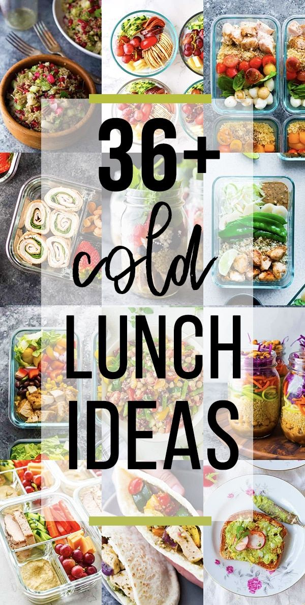 Sharing 36 cold lunch ideas perfect for when you dont have access to a microwave With wraps salads lunchables noodles and more these cold lunch ideas for work are perfect...